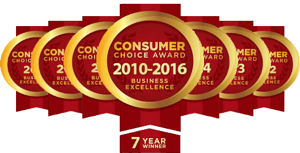 Consumers Choice Awards - Best Foot Care Provider - 7 years